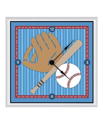 Baseball Items Clock