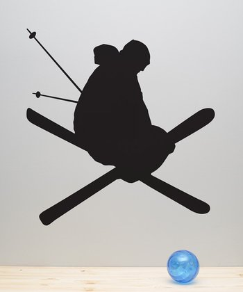 Skier Wall Decal