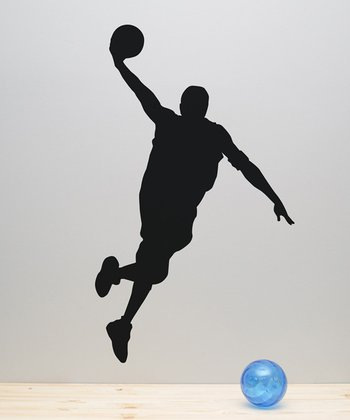 Dunking Basketball Player Wall Decal