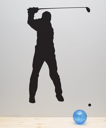 Golf Player Wall Decal