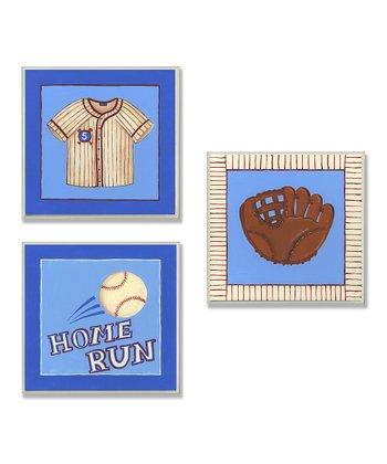 Little Slugger Baseball Wall Art Set