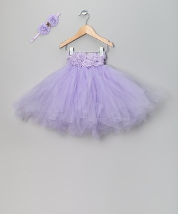 Purple Tutu Dress & Headband
