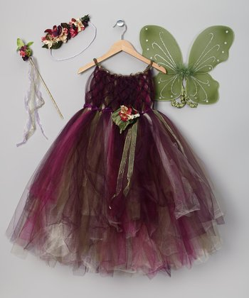 Purple & Green Fairy Dress Set - Toddler & Girls