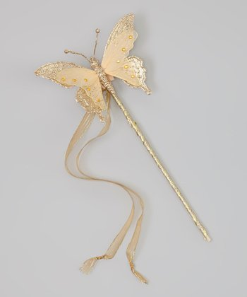 Gold Butterfly Wand