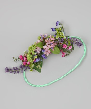 Pink & Green Flower Bouquet Halo