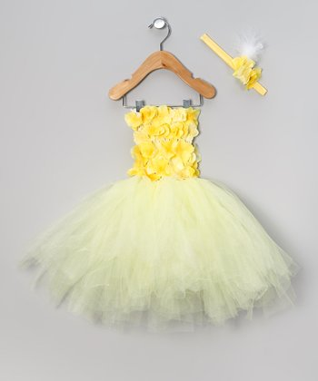 Yellow Buttercup Dress & Headband - Infant