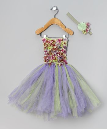 Purple Meadow Flower Dress & Headband - Infant & Toddler