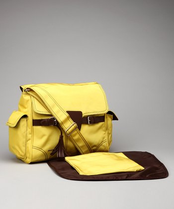 Yellow Kelly Diaper Messenger Bag