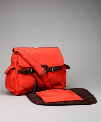 Red Kelly Diaper Messenger Bag