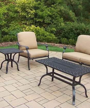 Antique Bronze Hampton Five-Piece Outdoor Chat Set