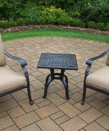 Antique Bronze Hampton Three-Piece Outdoor Chat Set
