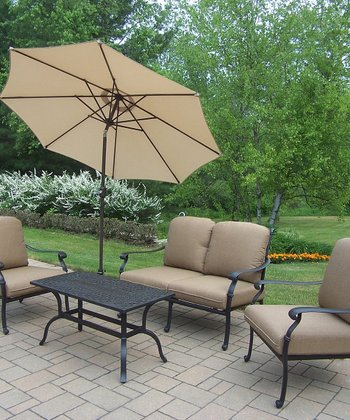 Antique Black Hampton Four-Piece Outdoor Chat Set
