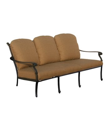 Antique Black & Tan Hampton Outdoor Sofa