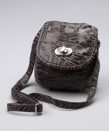 Gray Zebra Purse - Girls