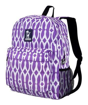 Purple & White Wishbone Crackerjack Backpack
