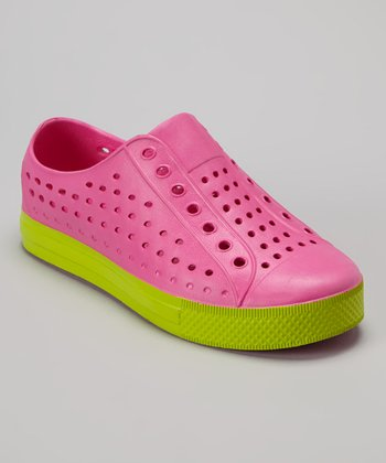 Capelli New York Pink & Lime Clog - Kids