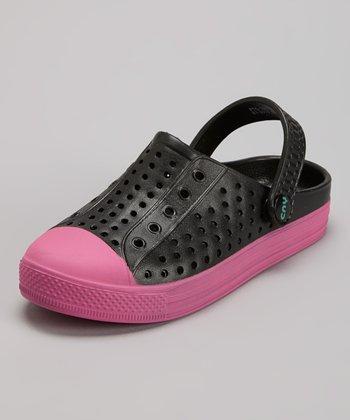 Capelli New York Black & Pink Combo Clog - Kids