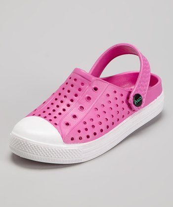 Capelli New York Pink & White Combo Clog - Kids