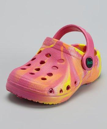 Capelli New York Pink & Yellow Combo Clog - Kids