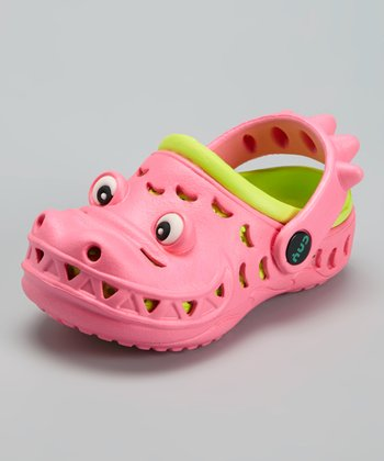 Capelli New York Pink & Lime Googly Eyes Combo Clog - Kids