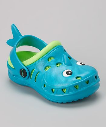Capelli New York Turquoise & Green Googly Eyes Combo Clog - Kids
