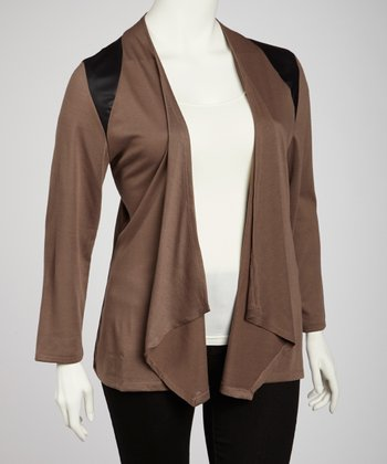 Putty Open Cardigan - Plus