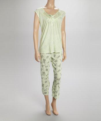 Green Lace Capri Pajamas - Women & Plus
