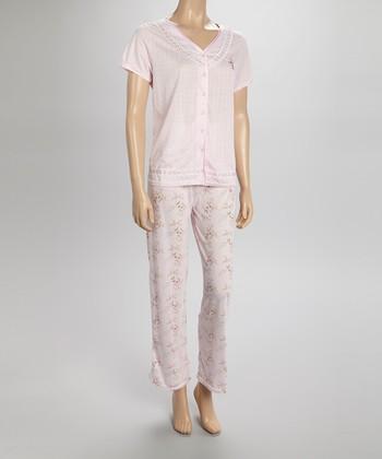 Pink Pointelle Pajamas - Women & Plus