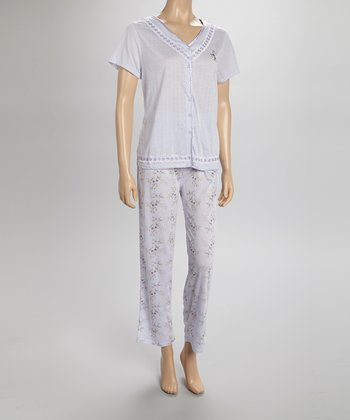 Purple Pointelle Pajamas - Women & Plus