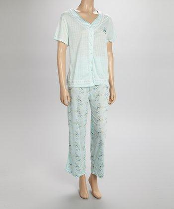 Mint Pointelle Pajamas - Women & Plus