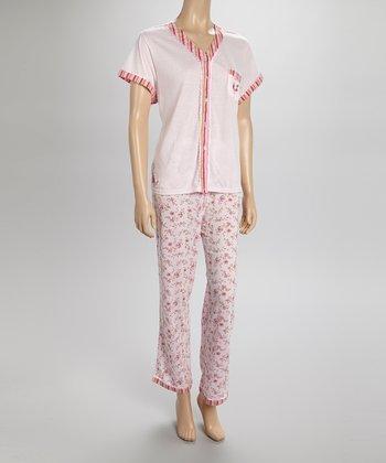 Pink Stripe Pajamas - Women & Plus
