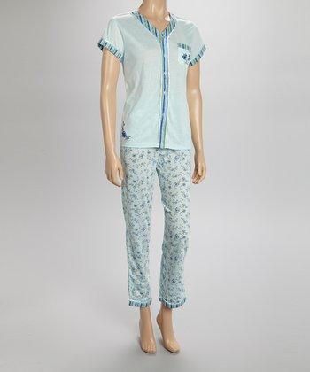Mint Stripe Pajamas - Women & Plus