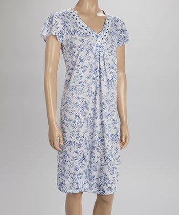Blue Lace Nightgown - Women & Plus