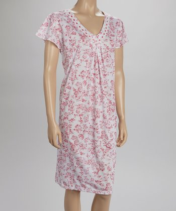 Pink Lace Nightgown - Women & Plus