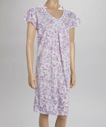 Purple Lace Nightgown - Women & Plus