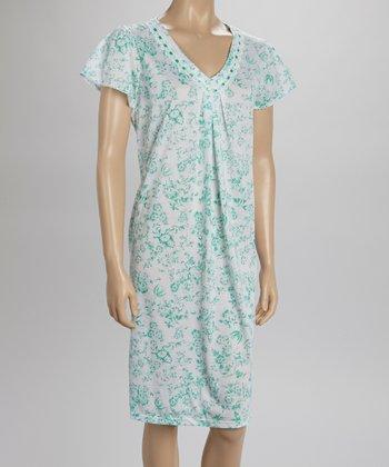 Green Lace Nightgown - Women & Plus