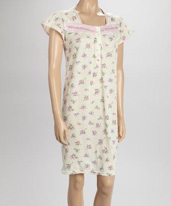 Yellow Gingham Nightgown - Women & Plus