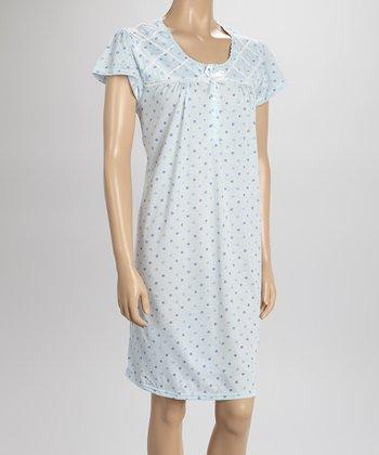 Blue Dot Nightgown - Women & Plus