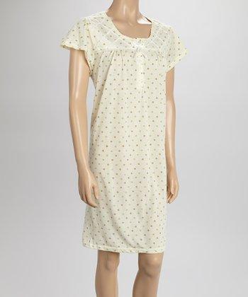 Yellow Dot Nightgown - Women & Plus