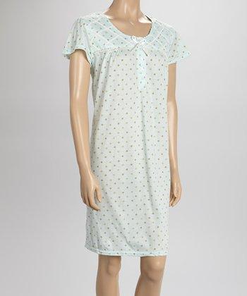 Mint Dot Nightgown - Women & Plus