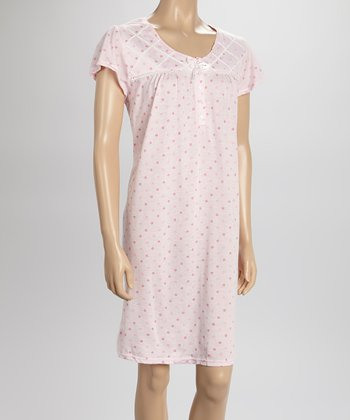 Pink Dot Nightgown - Women & Plus