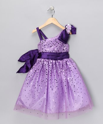 Chic Baby Lilac Glimmer Dress - Girls
