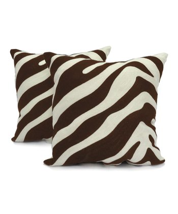Chocolate Cwagga Chainstitch Pillow Set