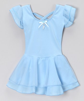 Light Blue Sophia Skirted Leotard - Toddler & Girls
