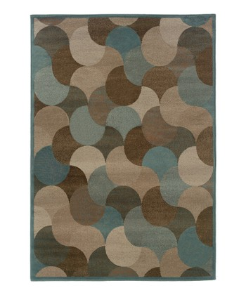 Beige Intersecting Circle Zara Rug
