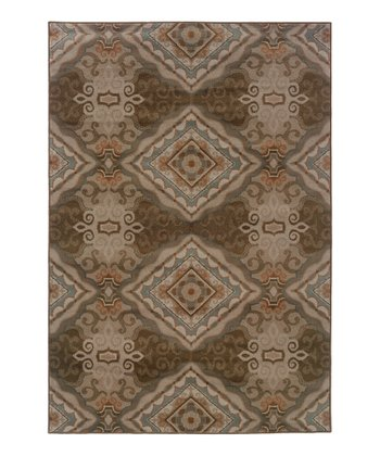 Stone Ornate Tile Zara Rug