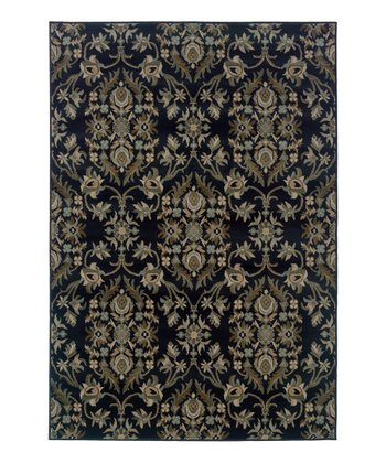 Midnight Flourish Vine Zara Rug