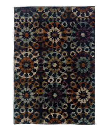 Midnight Medallion Zara Rug