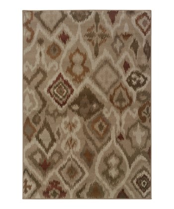 Beige Abstract Diamond Zara Rug