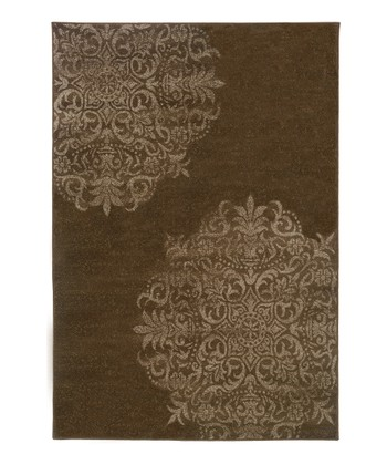 Brown Regal Medallion Zara Rug
